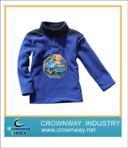 Kids Comfortable Soft Blue Fleece Jacket with High Quality (CW-KIDS-FJ2) pictures & photos