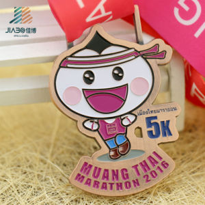 Customize Gold Zinc Alloy Bronze 5k Carton Running Medals with Enamel pictures & photos