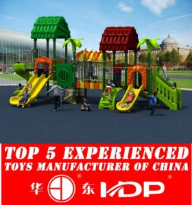 Outdoor Playground Fences Plastic Tube Slide Playhouse (HD15A-025A) pictures & photos