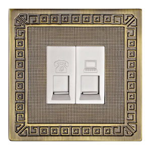 Brass Telephone Socket / Tel Socket / Data Socket pictures & photos