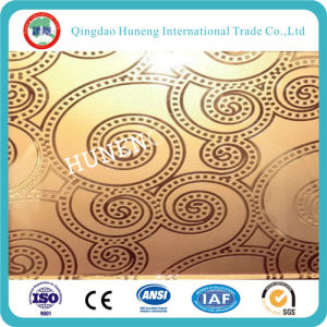 4-8mm Yellow Float Glass / Golden Decorative Construction Glass pictures & photos