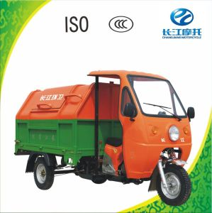 200cc Water Cooled 3 Wheel Motor Rickshaw for Garbage with Closed Body
