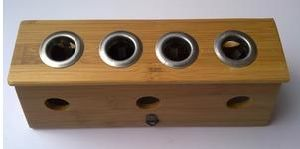 Wood Moxa Box - Four Holes pictures & photos