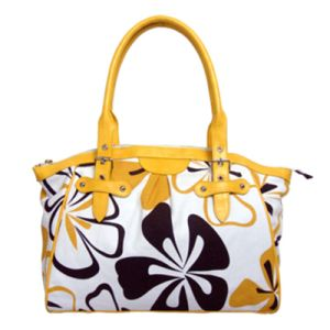 Lady Canvas Handbags with Flower Printing (BS1063) pictures & photos