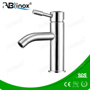 Stainless Steel Contemporary Basin Faucet (AB001) pictures & photos