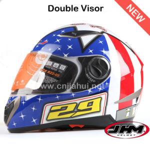 CE Standard Motorcycle Helmets Double Visor
