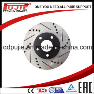 High Performance Two Pieces Carbon Cross Drilled and Slotted Brake Rotor (PJCBD007) pictures & photos