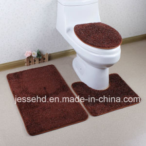 Colorful Shaggy and High Pile 3PCS Bath Mat Set pictures & photos