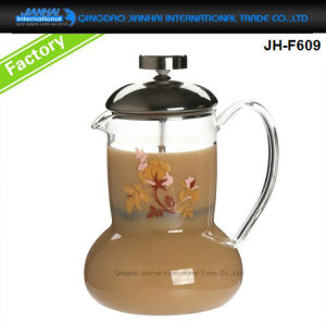 Stainless Steel Frame French Press Glassware for Tea, Coffee Maker pictures & photos
