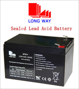 12V14ah Rechargeable Solar Gel UPS Cell Sealed Lead Acid Battery pictures & photos