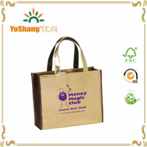 Custom Printed Gold PVC Mirror-Surface Leather Shopping Tote Bag Shiny pictures & photos