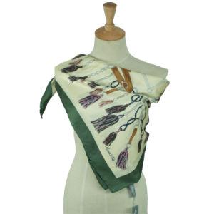Women Silk Twill Printed Scarf