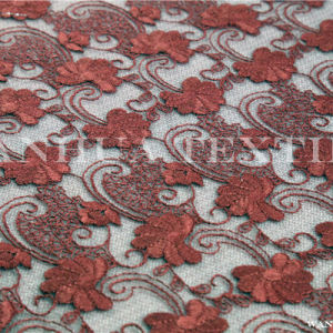 Chemical Wedding Embroidery Polyester Lace Fabric (AYX009)