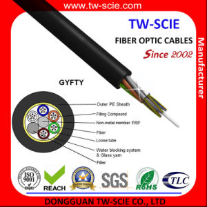 Aerial Single Mode Fiber Optic Cable Power Transmission System GYFTY pictures & photos