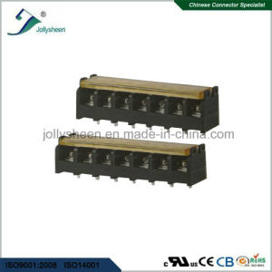 7pin pH7.62mm Barrier Terminal Blocks Straight Type with Clear PC Safety Cover pictures & photos