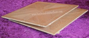 European Oak Art Parquet Wood Flooring for Hotel Lobby
