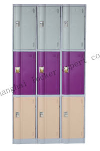 3 Door ABS Plastic Locker for Gym/Fitness Center/School /Club