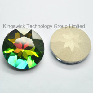 Round Crystal Glass Beads with Claw Sew on Rhinestones pictures & photos