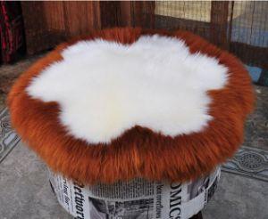 Round Long Wool Sheepskin Cushion Seat Cushion Flower Shape pictures & photos