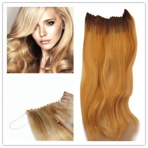 Elastic Thread Hair Extensions with Clips pictures & photos
