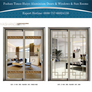 Modern Style 1.0mm~2.0mm Aluminium Hanging Door with Toughened Glass pictures & photos