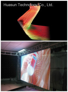 Outdoor/Indoor Transparent LED Curtain Apollo LED Curtain pictures & photos