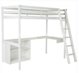 Wooden White High Sleeper 3FT Single Wooden Bed Frame with Storage pictures & photos