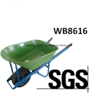 Australia Popular 110L&200kgs Hand Push Cart/Wheel Barrow (WB8616) pictures & photos