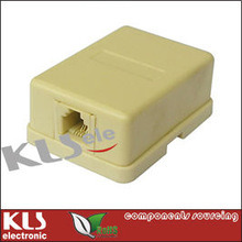 Telephone Modular Adapter, ADSL Adapter/Telephone Modem Filter Splitter with Cable Rj11 Rj12 UL CE RoHS