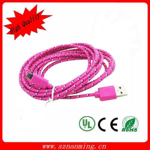 Fabric Woven Nylon Braided Micro USB Charger Cable pictures & photos