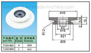 Ceramic Wire Guide Pulley with Bearing (TC03-1) pictures & photos