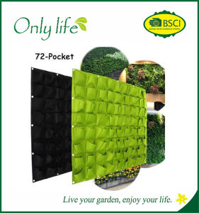 Onlylife BSCI Audit Black&Green Multi-Pockets Vertical Plant Bags pictures & photos
