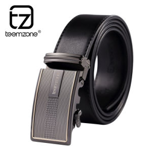 Fashion Men′s Leather Belt with Reversible Buckle
