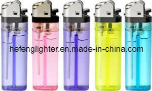 Flint Disposable Lighter Black High Head 77mm Shaodong Factory (F77-H)