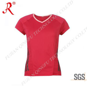 High Quality Women Sport T-Shirt for Running (QF-S194) pictures & photos
