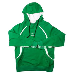 Healong Sale Heat Transfer Imprinting Green Hoodie pictures & photos