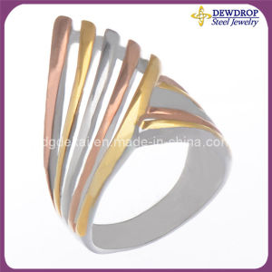 New Design Men Jewelry, Electroplating Stainless Steel Ring Jewelry (SSR3282-3)