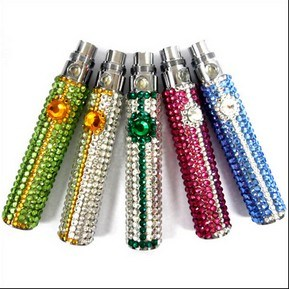 650/900/1100mAh E-Cigarette EGO Battery with Colorful Crystal Diamond Style