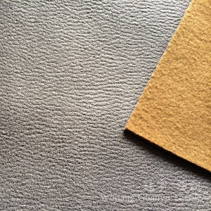 Micro Suede Nap Polyester Leather Fabric Compound for Home Decoration pictures & photos