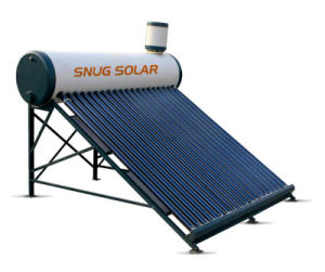Non-Pressurized Solar Water Heater with 1, 800mm Length, Vacuum Tube and 30 Degree Frame pictures & photos