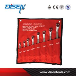 8 PCS 75 Degree Angle Double Ring Offset Spanner Set