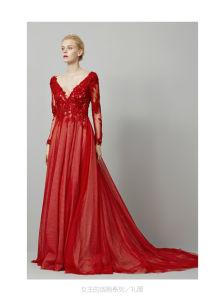 Hot Sale High Quality V- Neck Sequins Beaded Mermaid Designer Dresses Elie Saab 2014 (WD70) pictures & photos