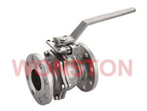 Stainless Steel 2PC Flange Ball Valve with Direct Mounting Pad JIS 10k pictures & photos