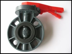 "Butterfly Valve/ PVC Butterfly Valve/ PVC-U Butterfly Valve with Size Dn50 (2"")"