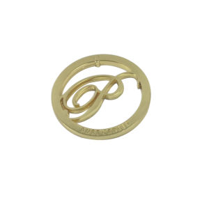 Gold Plated Round Metal Tag Manufacturer Metal Label Metal Plate pictures & photos