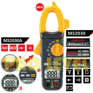 2000 Counts Digital AC Clamp Meter (MS2030A) pictures & photos