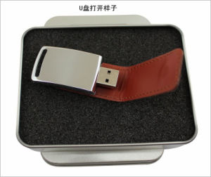 USB Flash Drive OEM Logo Leather PU USB Pendrives Flash Card Memory Stick USB Flash Thumb Memory Card USB Flash Pen drive pictures & photos