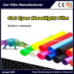 4D Cat Eyes PVC Car Lamp Film Light Blue Car Wrap Film with 12 Colors pictures & photos