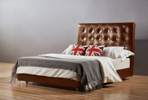 2015 Italia Leather Hotel Queen Bed, Modern Bed (A18) pictures & photos