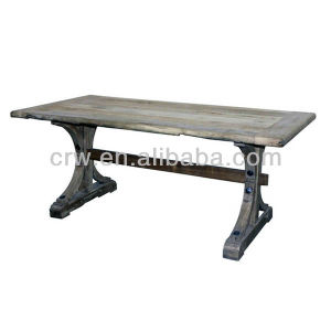 Dt-4019-1 Classic Recycle Elm Furniture Dining Table pictures & photos